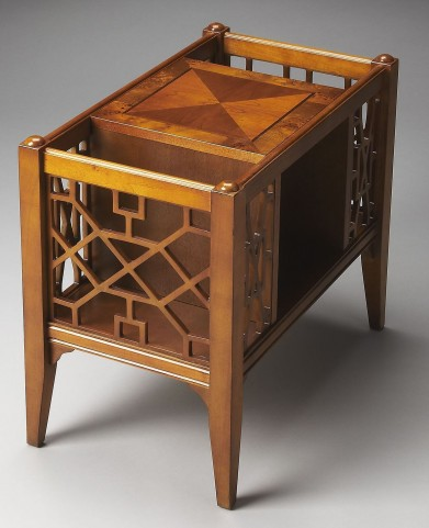 Masterpiece Chippendale Olive Ash Burl Magazine Basket