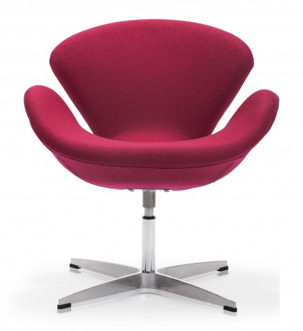 Pori Carnelian Red Arm Chair
