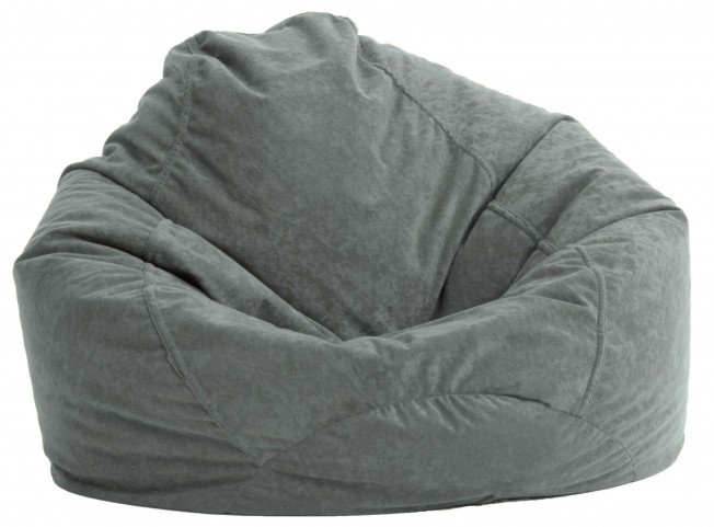 Big Joe Ultra Lounge Steel Grey Suede Comfort Chair