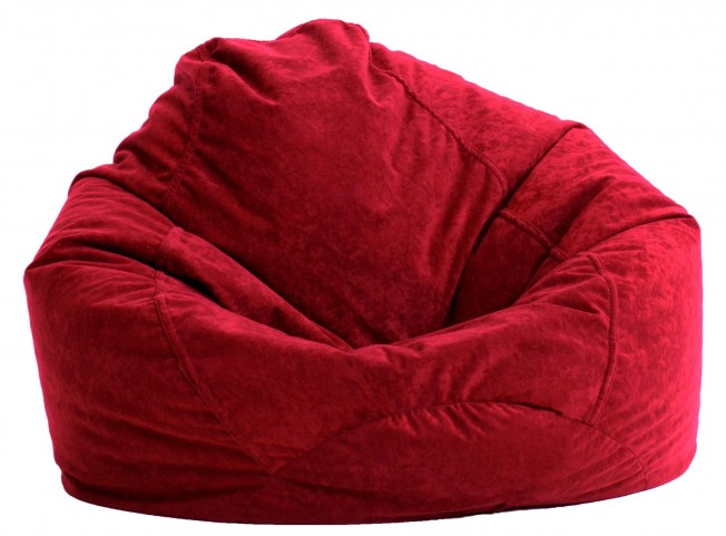 Big Joe Ultra Lounge Sierra Red Suede Comfort Chair