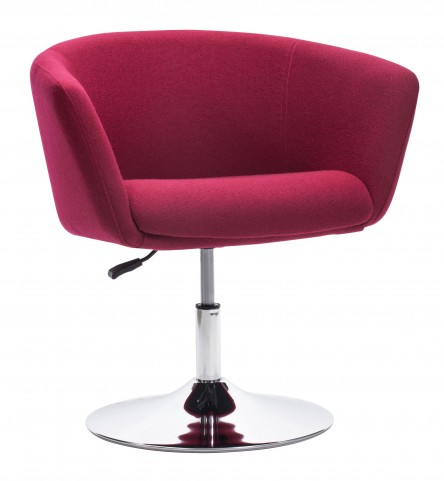 Umea Carnelian Red Arm Chair