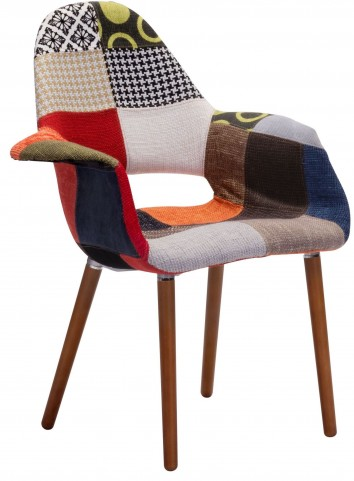 Moshe Patchwork Multicolor Occasional Chair