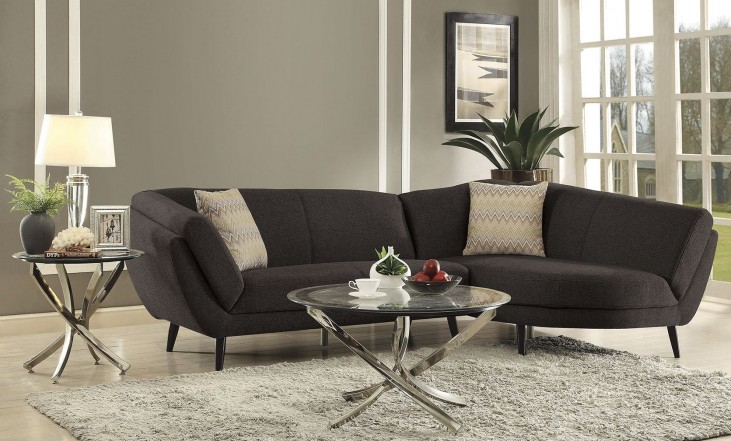 Norwood Dark Coffee Sectional