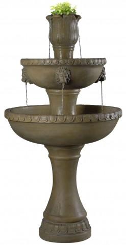 Lyon Dark Travertine Outdoor Floor Fountain