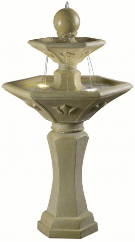 Provence Dark Travertine Outdoor Solar Fountain