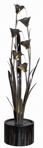 Lily Blue Bronze Indoor/Outdoor Floor Fountain
