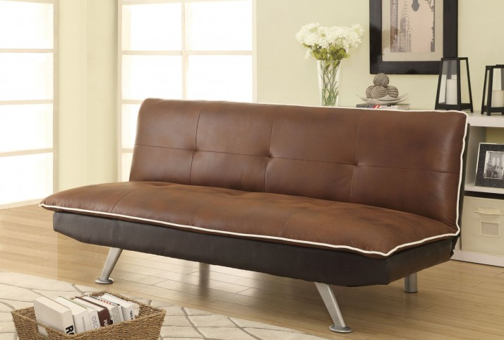 500752 Brown Chocolate Sofa Bed