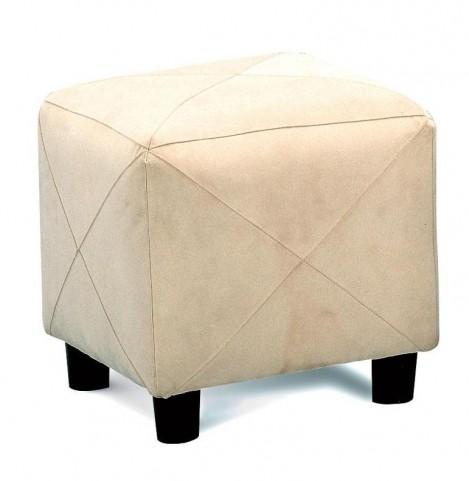 Taupe Microfiber Cube Foot Stool - 500944