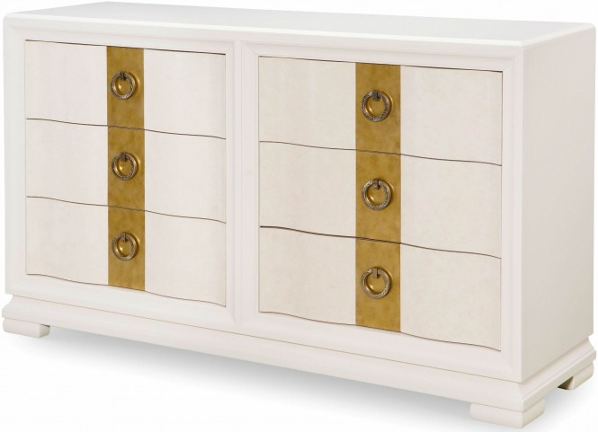 Tower Suite Pearl 6 Drawer Dresser
