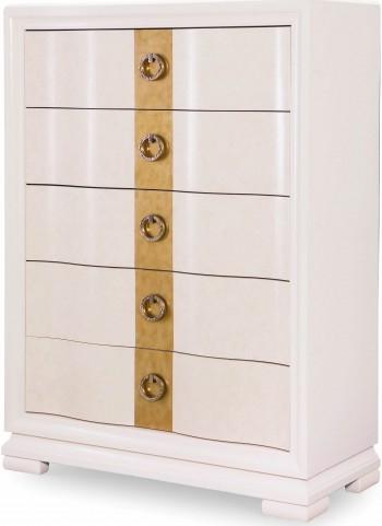 Tower Suite Pearl 5 Drawer Chest