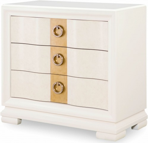 Tower Suite Pearl 3 Drawer Bedside Chest
