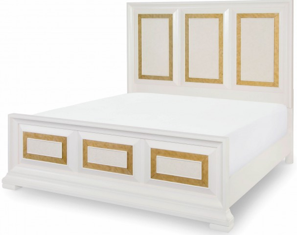 Tower Suite Pearl Queen Panel Bed