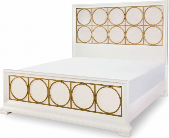Tower Suite Pearl King Metal Panel Bed