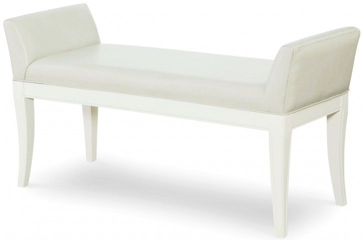 Tower Suite Pearl Upholstered Bench