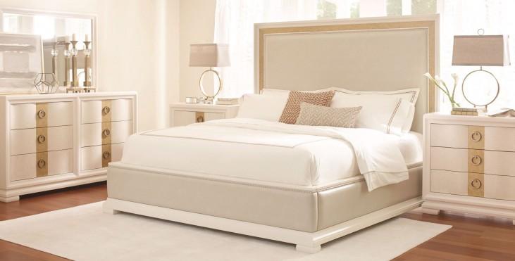 Tower Suite Pearl Upholstered Platform Bedroom Set