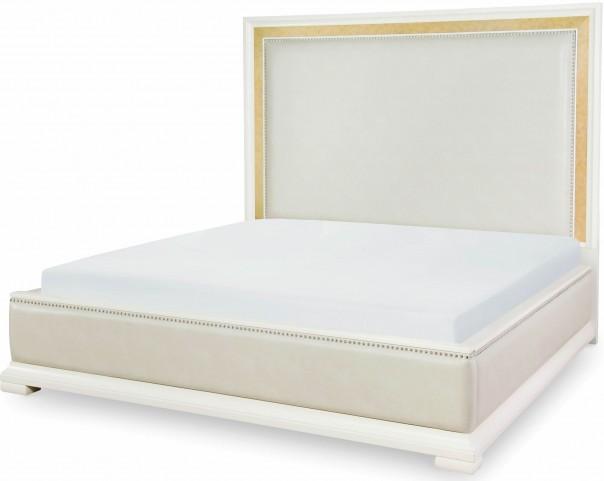 Tower Suite Pearl King Upholstered Platform Bed