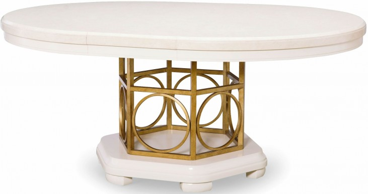 Tower Suite Pearl Extendable Round Pedestal Dining Table
