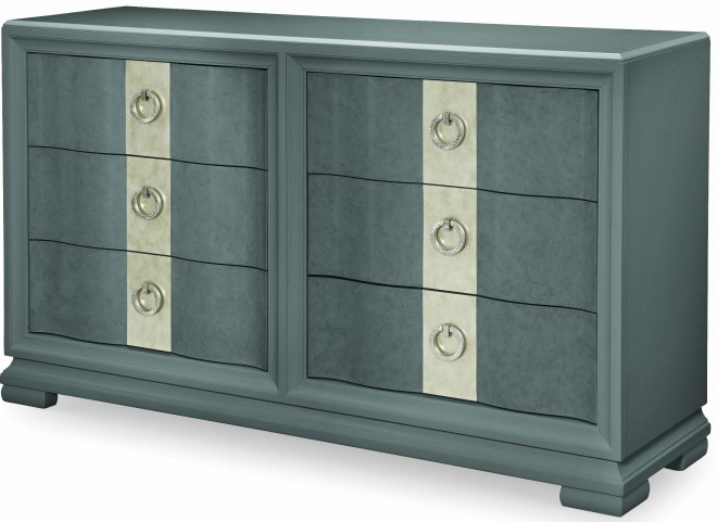 Tower Suite Moonstone 6 Drawer Dresser