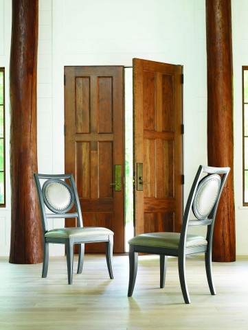 Tower Suite Moonstone Upholstered Back Side Chair Set of 2