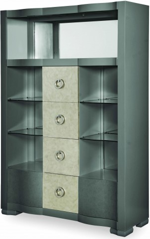 Tower Suite Moonstone Bar Cabinet