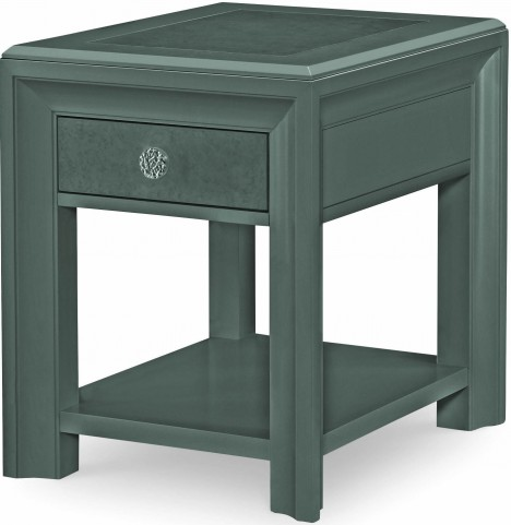 Tower Suite Moonstone 1 Drawer Chairside Table