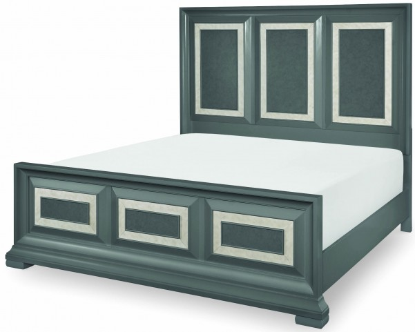 Tower Suite Moonstone Cal. King Panel Bed