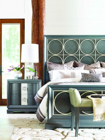 Tower Suite Moonstone Metal Panel Bedroom Set