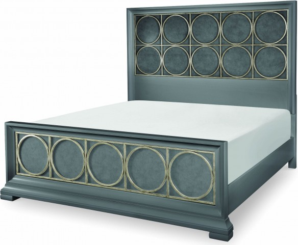 Tower Suite Moonstone Cal. King Metal Panel Bed