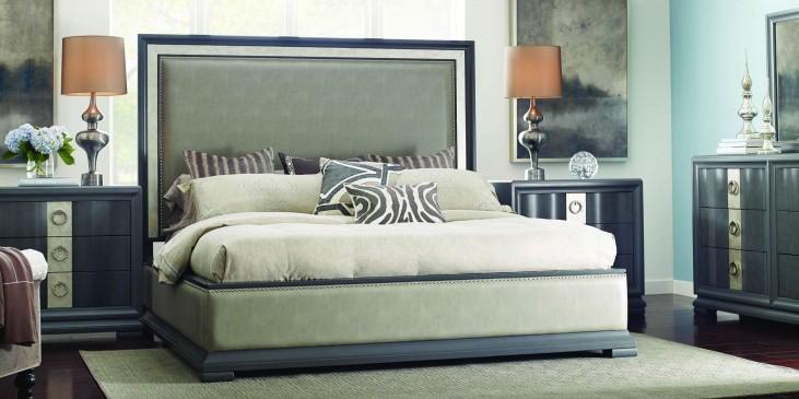Tower Suite Moonstone Upholstered Platform Bedroom Set
