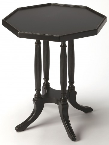 Adolphus Black Licorice Octagonal Accent Table