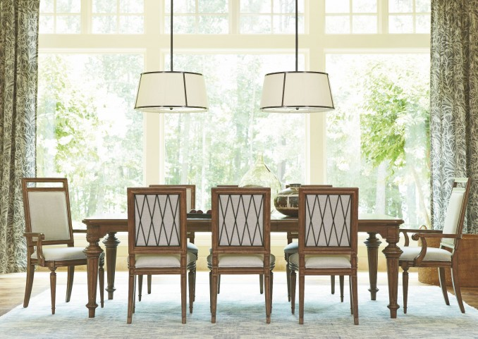 Remix Bannister Extendable Dining Room Set