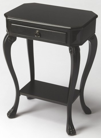 Channing Black Licorice Console End Table