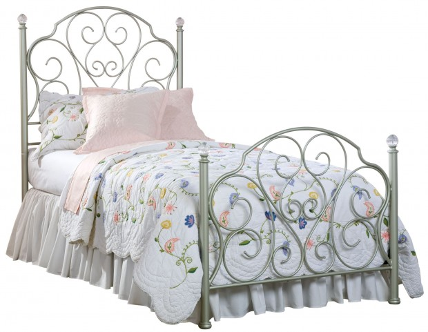 Spring Rose Twin  Metal Bed
