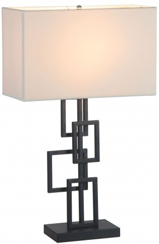 Step White & Black Table Lamp