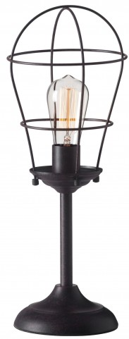Roll Rust Table Lamp