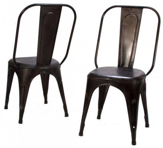 Amara Rust Metal Chair Set of 4