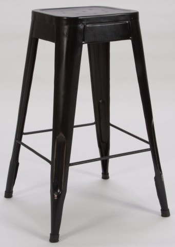 "Amara 29"" Black Metal Stool Set of 4"