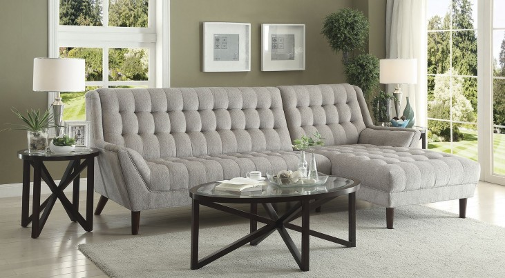 Natalia Dove Grey Sectional