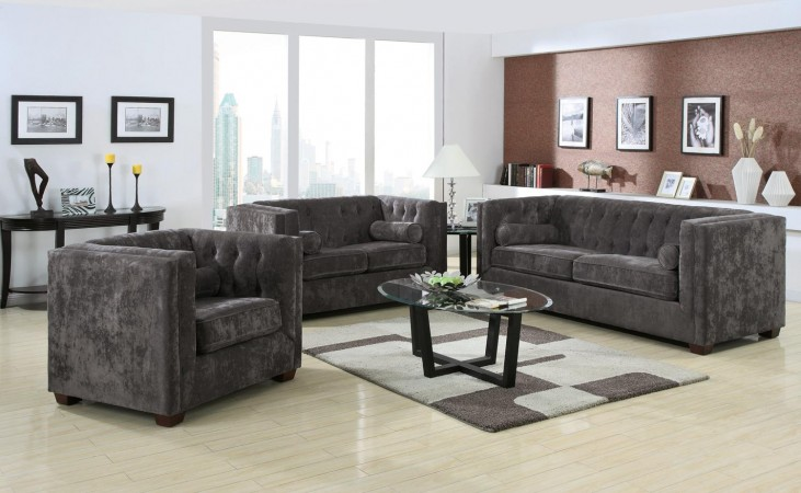 Alexis Charcoal Living Room Set