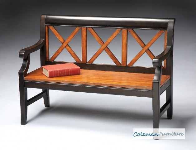 Transitional Cherry Bench