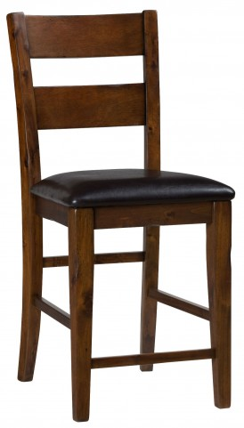 Plantation Ladderback Upholstered Bar Stool Set of 2