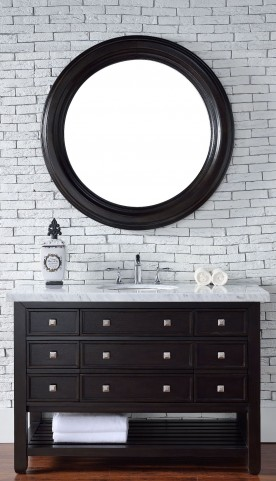 "Vancouver 48"" Cerused Espresso Oak Single 4Cm Top Vanity"