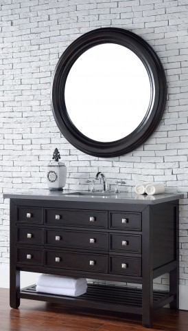 "Vancouver 48"" Cerused Espresso Oak Single 3CM Top Vanity Set"