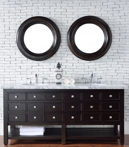 "Vancouver 72"" Cerused Espresso Oak Double 4Cm Top Vanity"