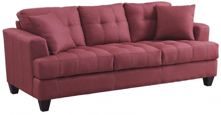 Samuel Red Sofa
