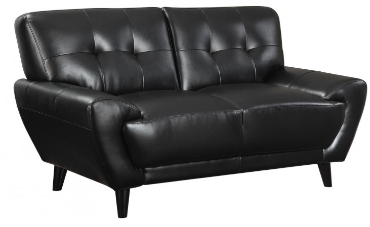 Leskow Black Loveseat