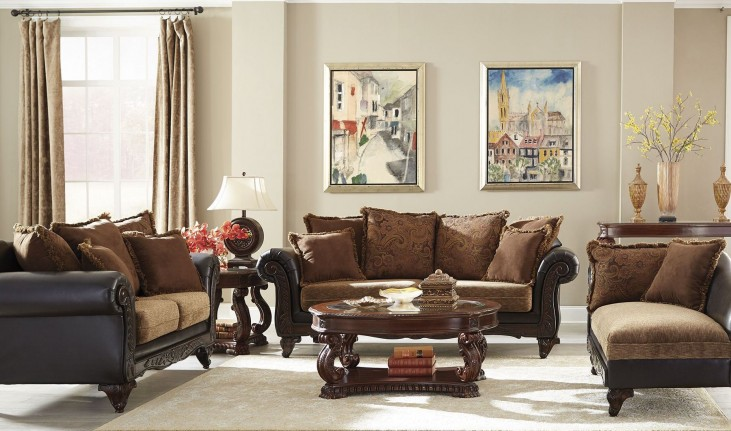 Garroway Russet/ Chocolate Living Room Set