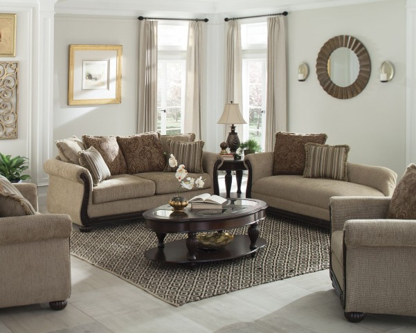 Beasley Brown Living Room Set