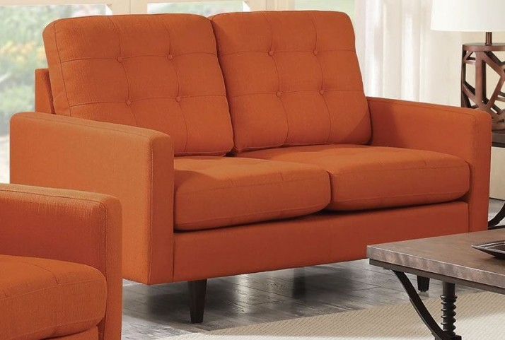 Kesson Orange Loveseat