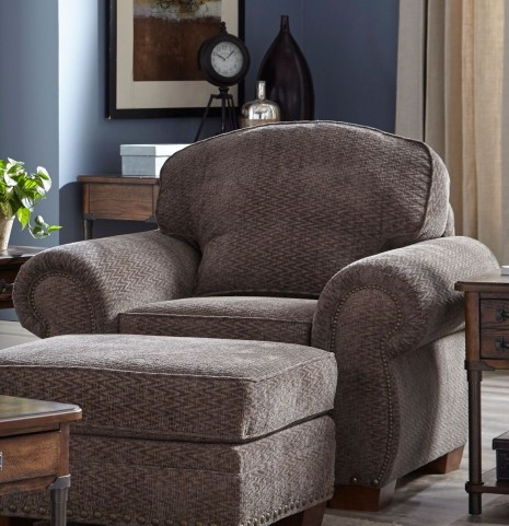 Cambridge Walnut Chenille Fabric Chair